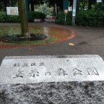 雨の蚕糸の森公園